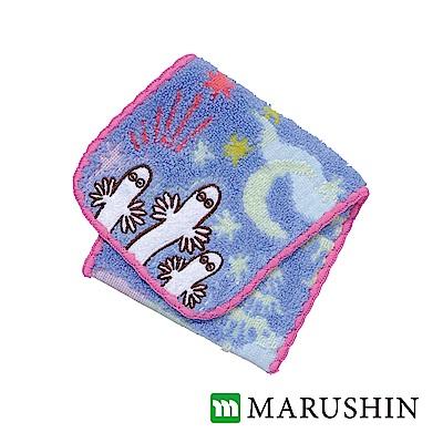 日本丸真 Moomin方型毛巾布收納袋-溜溜們的夜晚