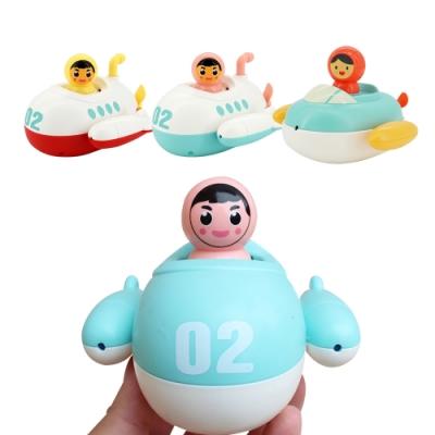 colorland【3入】兒童洗澡戲水玩具 寶寶浴室漂浮潛水艇發條噴水玩具