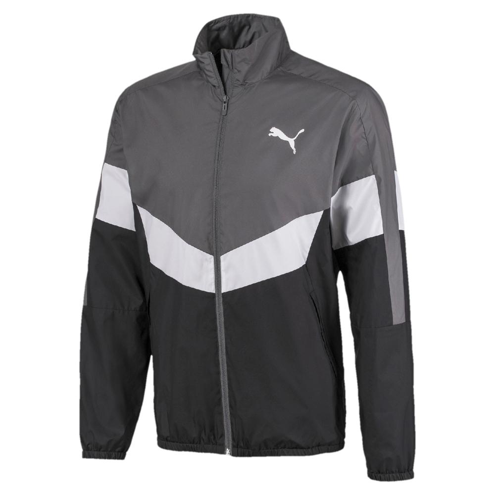 PUMA-男性基本系列撞色風衣外套-黑色-歐規