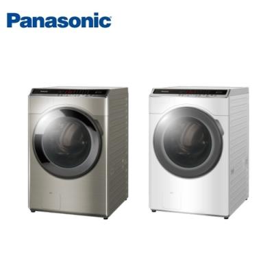 [館長推薦] Panasonic國際牌 16KG 台灣製 變頻雙科技溫水洗脫烘滾筒洗衣機 NA-V160HDH-W 冰鑽白
