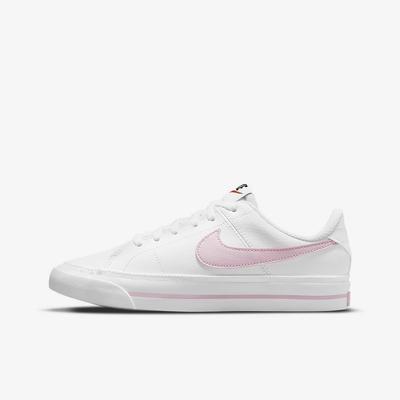 NIKE COURT LEGACY (GS) 大童休閒鞋-白粉-DA5380109