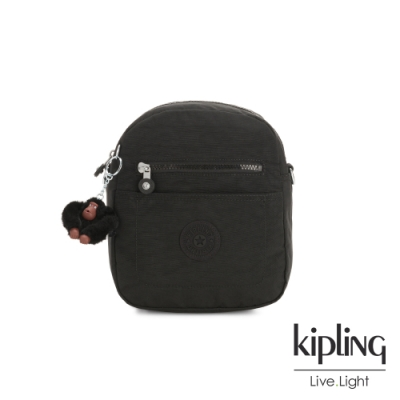 Kipling 質感黑隨身兩用後背包-MAXX