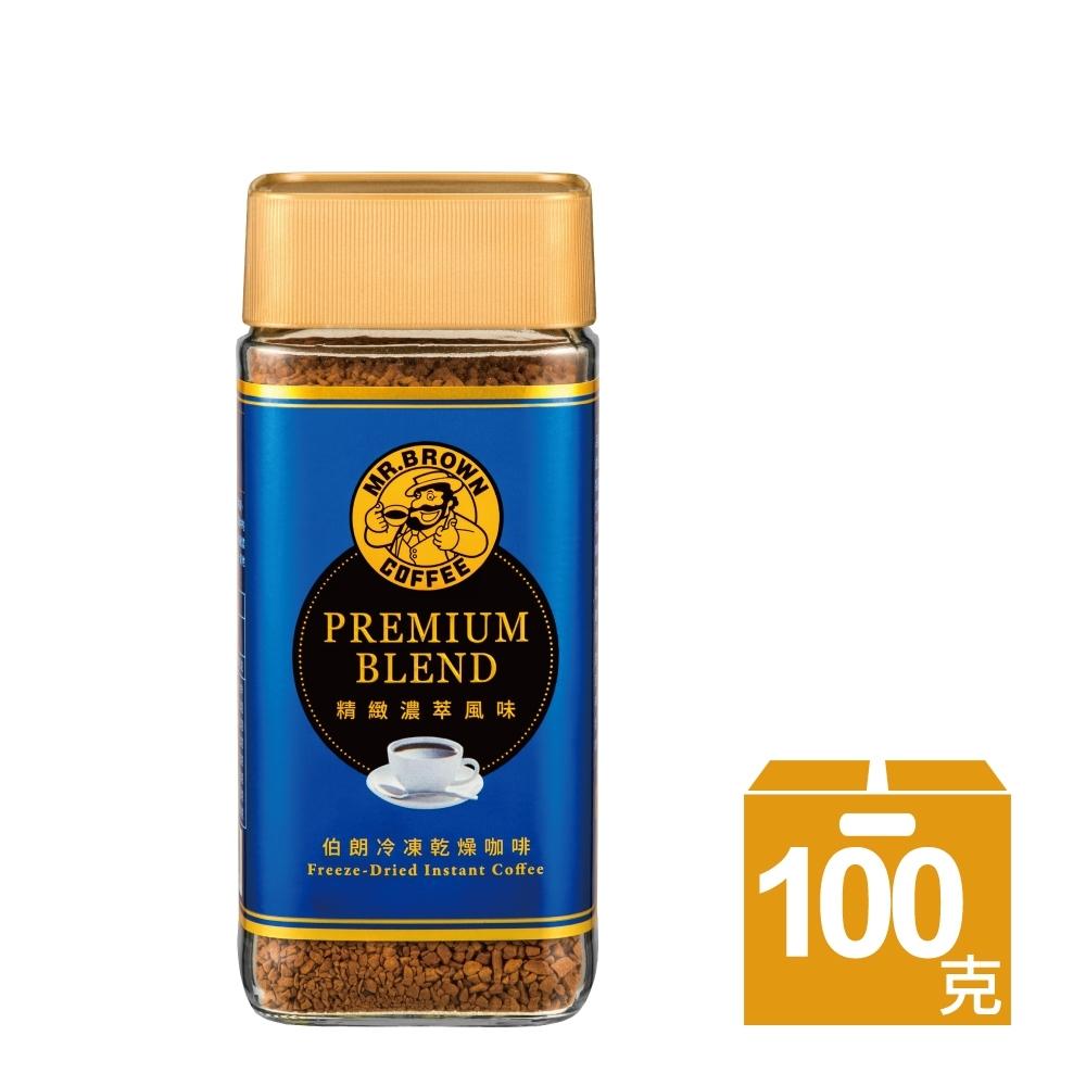 伯朗咖啡 伯朗精緻濃萃風味即溶咖啡(100g/瓶)