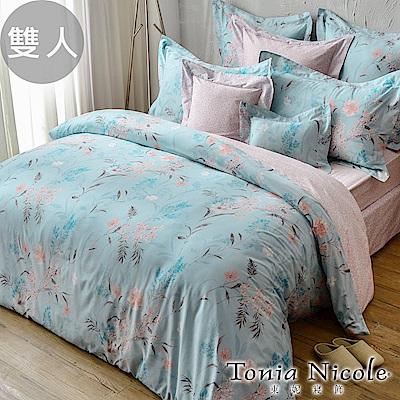 活動品-Tonia Nicole東妮寢飾 微風戀人環保印染100%精梳棉兩用被床包組(雙人)