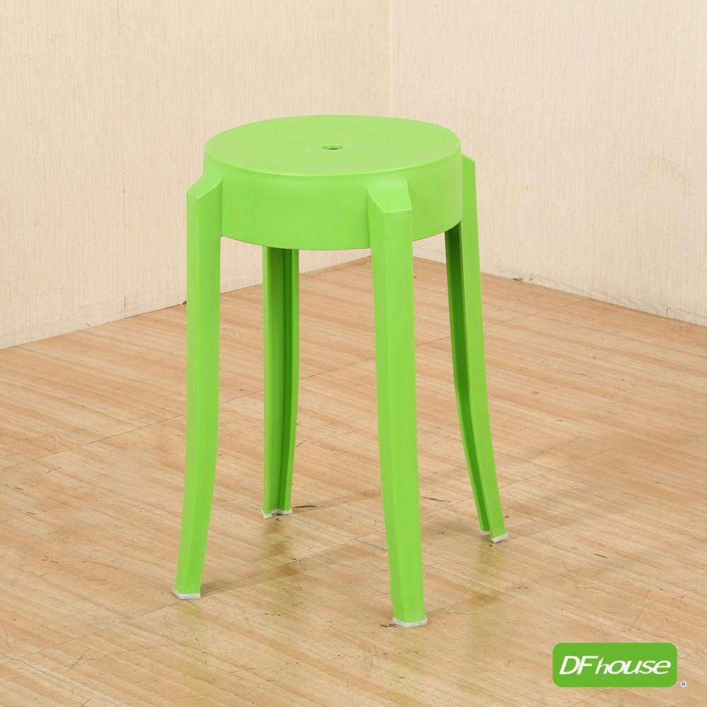 《DFhouse》艾許-時尚圓椅-綠色-31寬*深31*高46.5(cm)