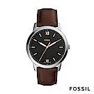 FOSSIL Minimalist 簡約設計中性錶-黑