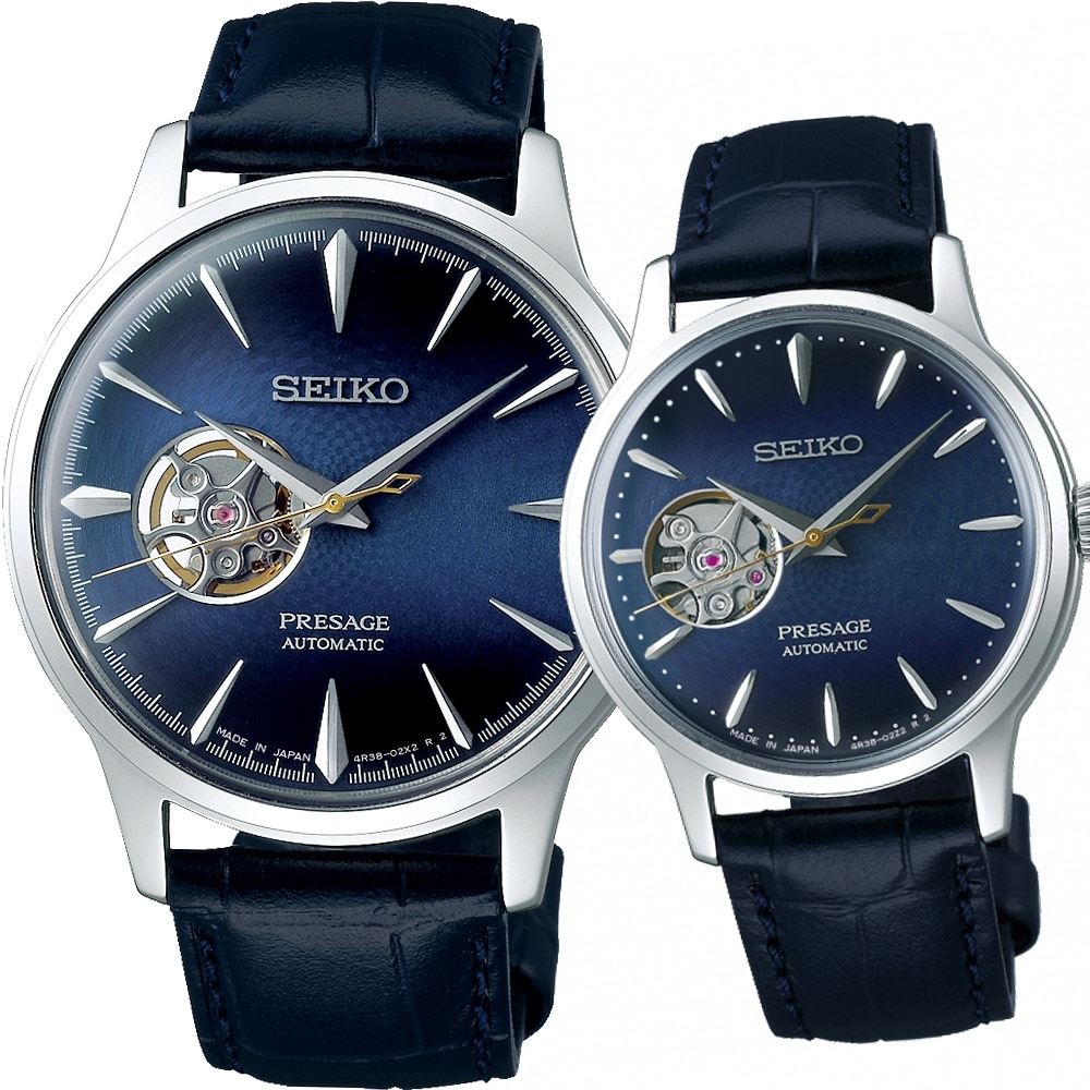 SEIKO Presage 微醺情人限量機械對錶(SSA405J1+SSA785J1)
