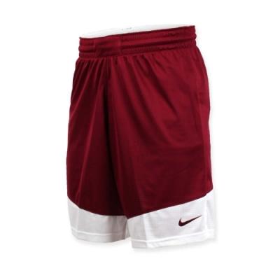 NIKE 男籃球針織短褲-路跑 慢跑 訓練 五分褲 磚紅