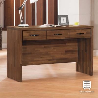 漢妮Hampton尼爾森系列積層木4尺三抽書桌-120x56x79