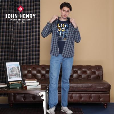 【JOHN HENRY】復古格紋長袖襯衫-綠色