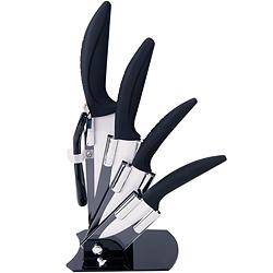 《EXCELSA》陶瓷刀具5件+刀座