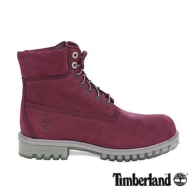Timberland 男款深紅色絨面TPU款6吋靴   A1LZFI30