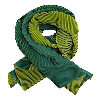 ISSEY MIYAKE 三宅一生 PLEATS PLEASE 雙色斜紋圍巾(墨綠)