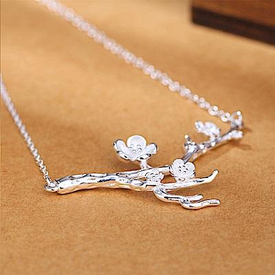 Hera 赫拉 個性造型925純銀項鍊/鎖骨鍊-梅花款