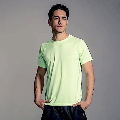 GFun 男款吸濕排汗涼感T恤-螢光綠(G7URSM1-GREEN)