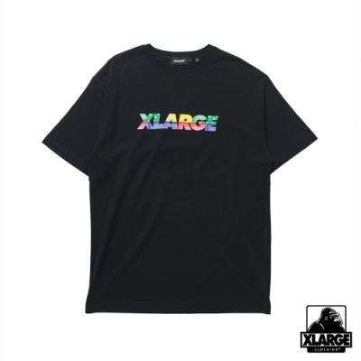 XLARGE S/S TEE PAISLEY STANDARD LOGO短袖T恤-黑