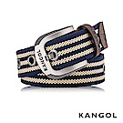 KANGOL EVOLUTION系列 英式潮流休閒針釦式皮帶- 深藍條紋 KG1181