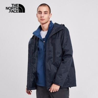 The North Face 男 三合一防水透氣保暖外套 藍-NF0A4NCLLMW