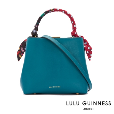 LULU GUINNESS RUBY 綁帶手提/側背包 (翡翠綠)