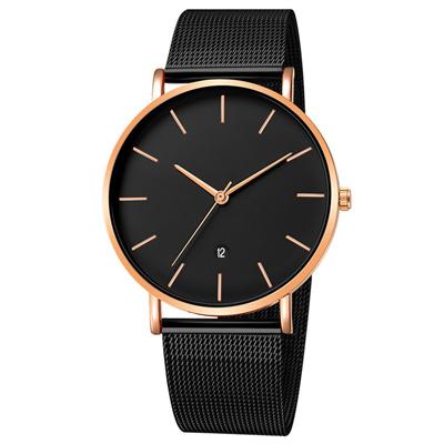 Geneva 日內瓦-簡約經典時標日曆米蘭帶手錶 (5色任選)