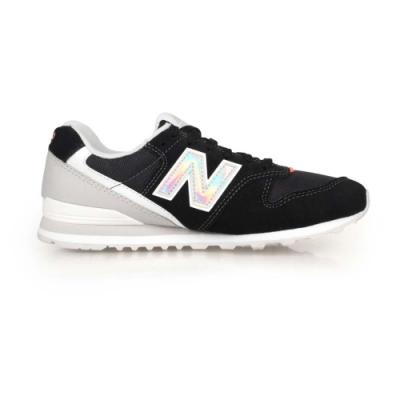 NEWBALANCE 女復古慢跑鞋-麂皮 996系列 NB N字鞋 標準楦 WL996COB 黑銀白
