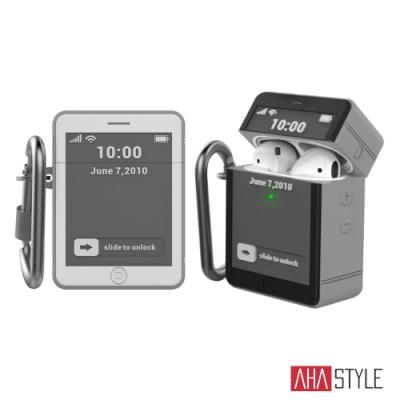 AHAStyle AirPods 矽膠保護套 iPhone 4造型 經典設計 掛鉤款保護殼