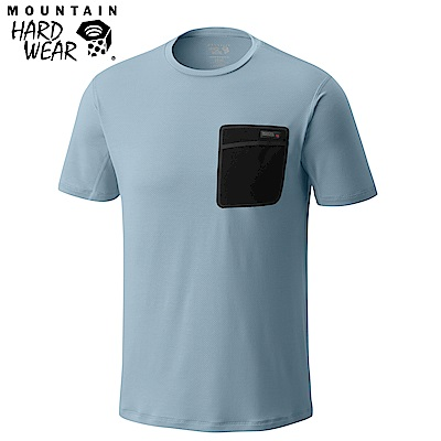 Mountain Hardwear 男款- 防曬50快乾柔質短袖上衣-灰色