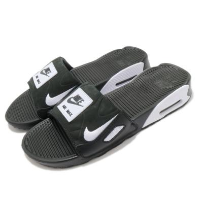 Nike 涼拖鞋 Air Max 90 Slide 女鞋 海外限定 輕便 舒適 氣墊 穿搭 夏日 黑 白 CT5241002