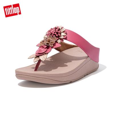 FitFlop FINO FLORAL CLUSTER TOE POST SANDALS 立體花飾夾腳涼鞋-女(深粉色)