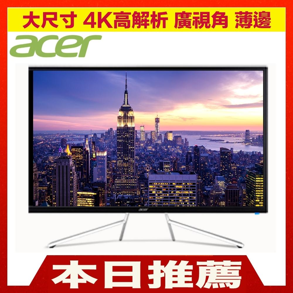 (福利品)Acer ET322QK 32型 4K VA窄邊框電腦螢幕