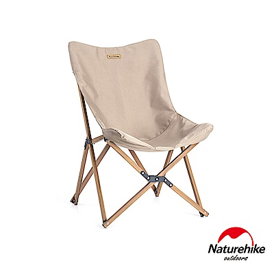 Naturehike 戶外便攜式可拆卸蝴蝶椅 折疊椅 釣魚椅 卡其色
