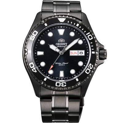 ORIENT東方200m潛水機械錶手錶-黑/42mm