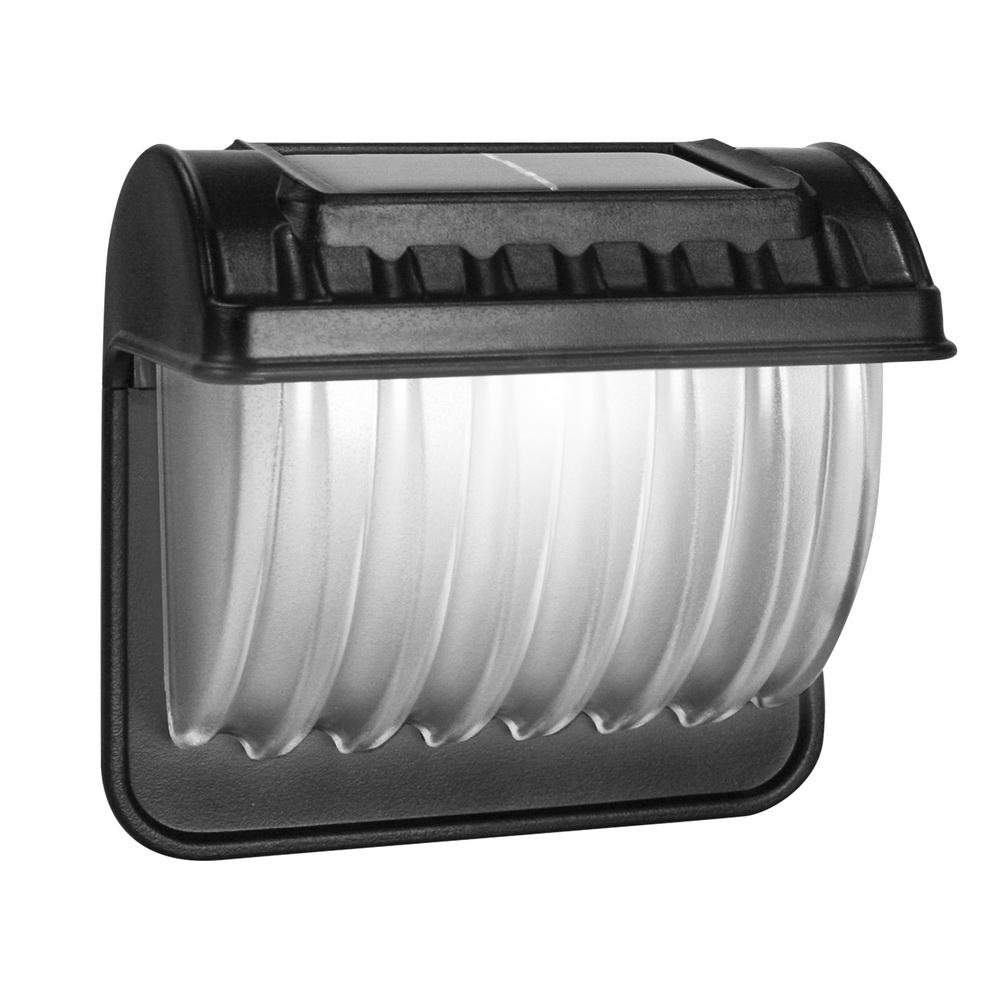 KINYO 小型壁掛式防潑水太陽能光控白光LED庭園燈