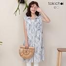 東京著衣 青春減齡樹葉滿版長版襯衫-S.M.L(共二色)