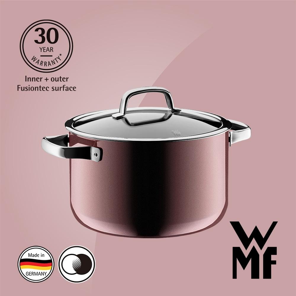 德國WMF FUSIONTEC 高身湯鍋(6.4L)(24CM)(金屬玫瑰赭紅色)(福利品)