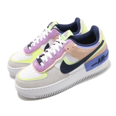 Nike 休閒鞋 AF1 Shadow 運動 女鞋 基本款 厚底 舒適 皮革 簡約 穿搭 白 彩 CU8591001