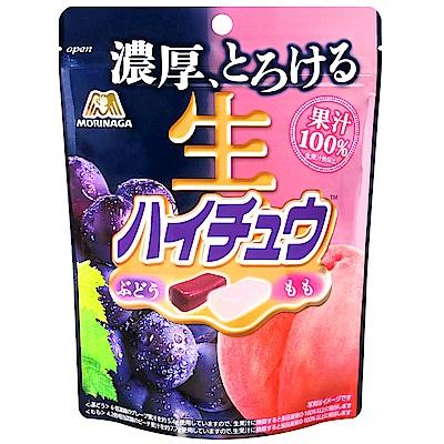 森永製果 生嗨啾軟糖-葡萄&桃子(60g)