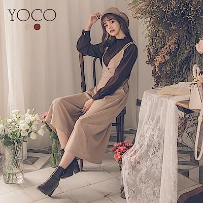 東京著衣-yoco 韓國女孩最愛鬆緊腰吊帶褲-S.M.L(共二色)