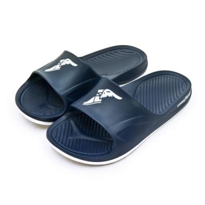 GOODYEAR 防水輕量彈力休閒運動拖鞋 藍白 93776