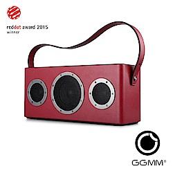 【GGMM】M4 攜帶型藍芽&Wifi皮質音響-寶石紅