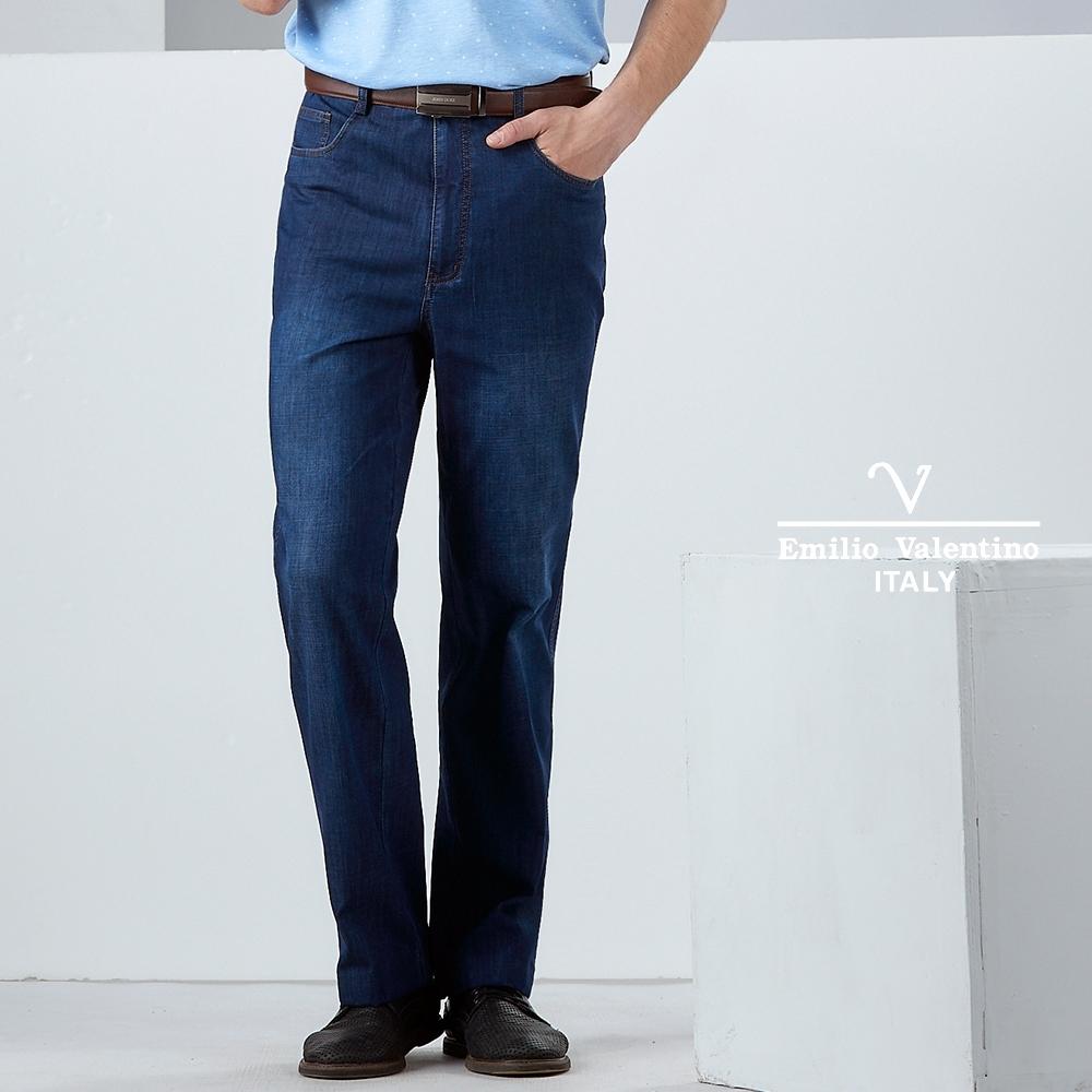 Emilio Valentino品味休閒牛仔褲_藍(30-9A2505)