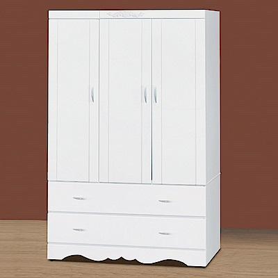 AS-柏格4x6烤白衣櫃-112x57x180cm