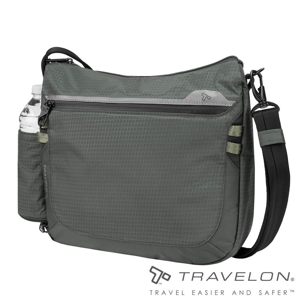 Travelon美國防盜包 休閒旅行輕便包防割鋼網斜背包/側肩包TL-43128灰