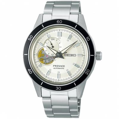 SEIKO精工 PRESAGE Style60's復古開芯機械錶-40.8mm(4R39-00Z0S/SSA423J1)