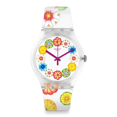 Swatch 田園風情系列 KUMQUAT 精緻陶瓷手錶-41mm