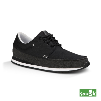 SANUK 復古運動外型設計款休閒鞋-男款(黑色)