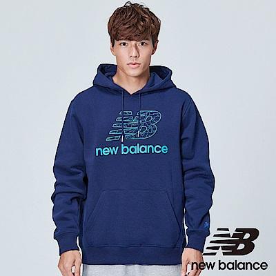 New Balance 連帽刷毛長袖上衣 AMT83534PGM 中性 丈青