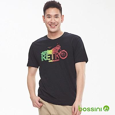 bossini男裝-印花短袖T恤06黑