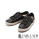 Fair Lady Soft Power軟實力質感皮質休閒鞋 黑