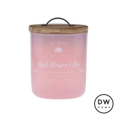 DW HOME 美國香氛 農園系列 蘋果玫瑰 原木蓋玻璃罐 240g